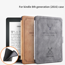 For amazon Kindle 8 generation Case 6 Inch E-book deer pattern pu leather flip stand smart cover magnet auto sleep wake up