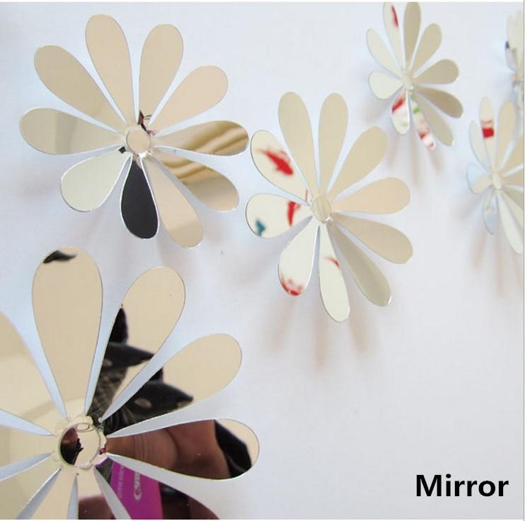 Bornisking 12 unids decoración del hogar flores 3d etiqueta de la pared mariposa