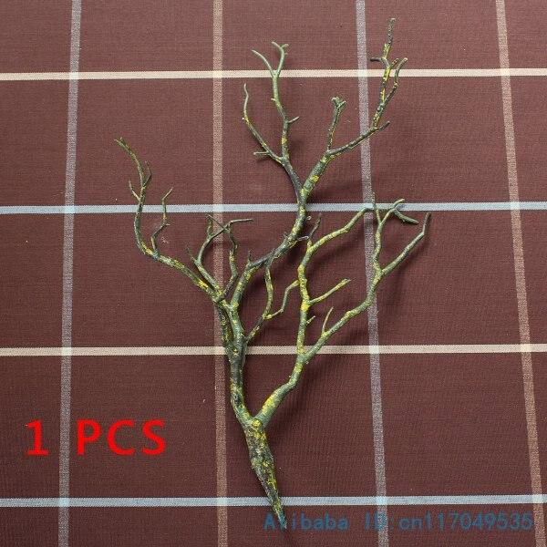1 шт. Красивая Искусственная маленькая пластиковая высушенная ветка растение домашнее свадебное украшение F220 - Цвет: green yellow