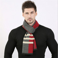 Fashion Men Winter Scarf Luxury Designer Classic Business Warm Scarves Soft Shawls Wrap Echarpe Foulard Cachecol