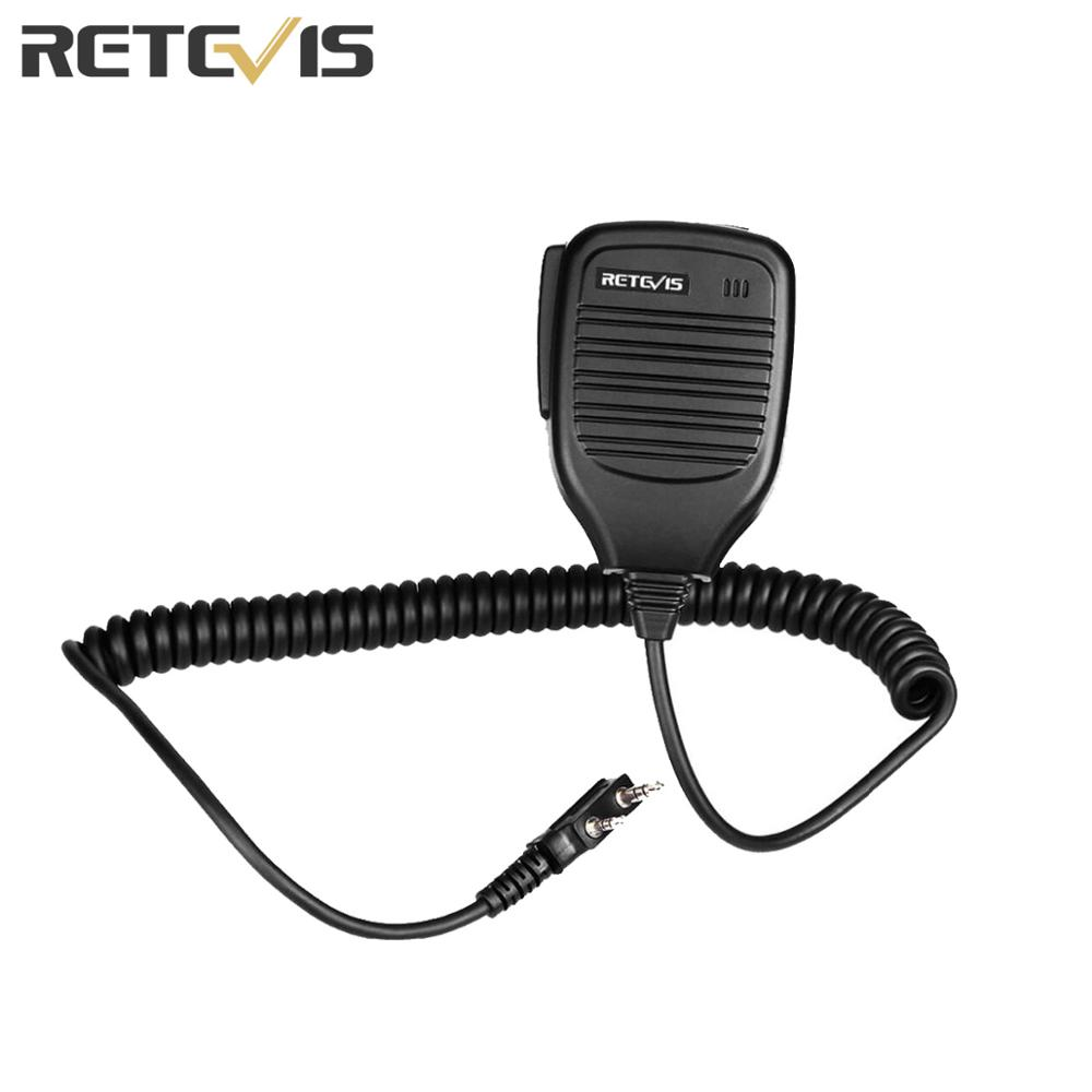 2 Pin PTT Speaker Microphone For Kenwood BAOFENG UV-5R BF-888S Retevis H777 RT3 RT80 TYT PUXING Ham Radio Walkie Talkie C9001A