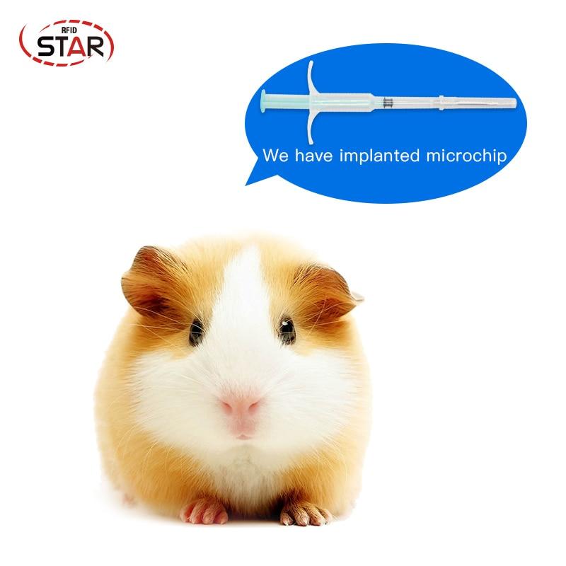 X 30pcs 1.4*8 Mm ISO11784/5 134.2KHz Rfid Chip Implant Syringe EM4305 FDX-B Animals Id Microchip Injectors For Cat Dog Pets