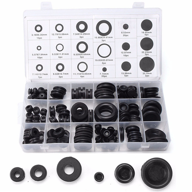 mtgather 125pcs rubber grommets kits electrical wire gasket tool rh aliexpress com Toyota Rubber Grommet Rubber Grommets Hole Plugs