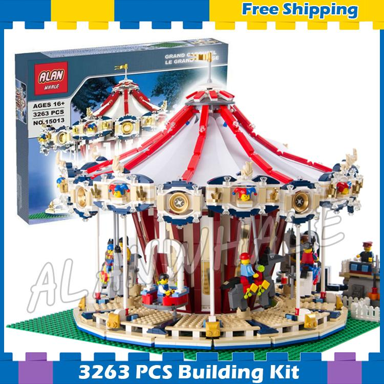 3263 pièces créateur Expert parc d'attractions carrousel construire Collection 15013 modèle de construction cadeaux ensembles blocs compatibles avec Lego
