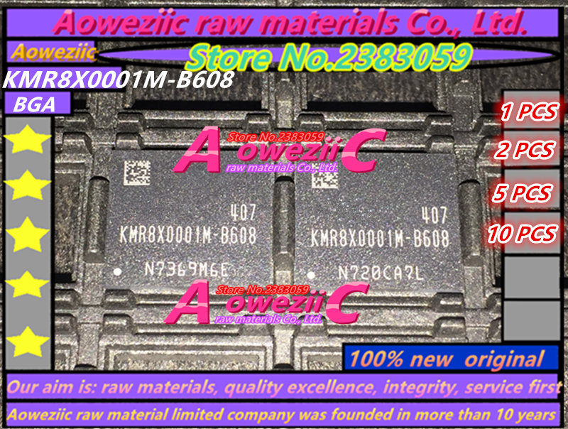 Aoweziic 100 New original KMR8X0001M B608 BGA memory chip KMR8X0001M B608
