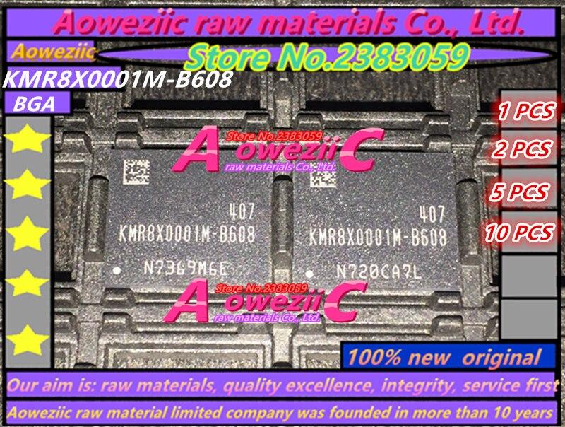 Aoweziic 100% Nieuwe originele KMR8X0001M B608 BGA geheugen chip KMR8X0001M B608-in Vervangende onderdelen en toebehoren van Consumentenelektronica op  Groep 1