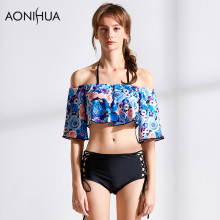 AONIHUA Bikini Printing Set Women Summer Sexy Swimsuit Beach Wear Two Pieces