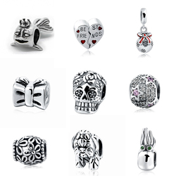 New arrial pandora Various Beads Fit Authentic charm Bracelets Silver 925 Original Pendant Charms Antique Beads Jewelry Gifts
