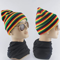 2017 Spring Women Men Unisex Knitted Winter Cap Strip Colorful Casual Beanies Hip-hop Snap Skullies Bonnet Chapeu Hat L3 Hot