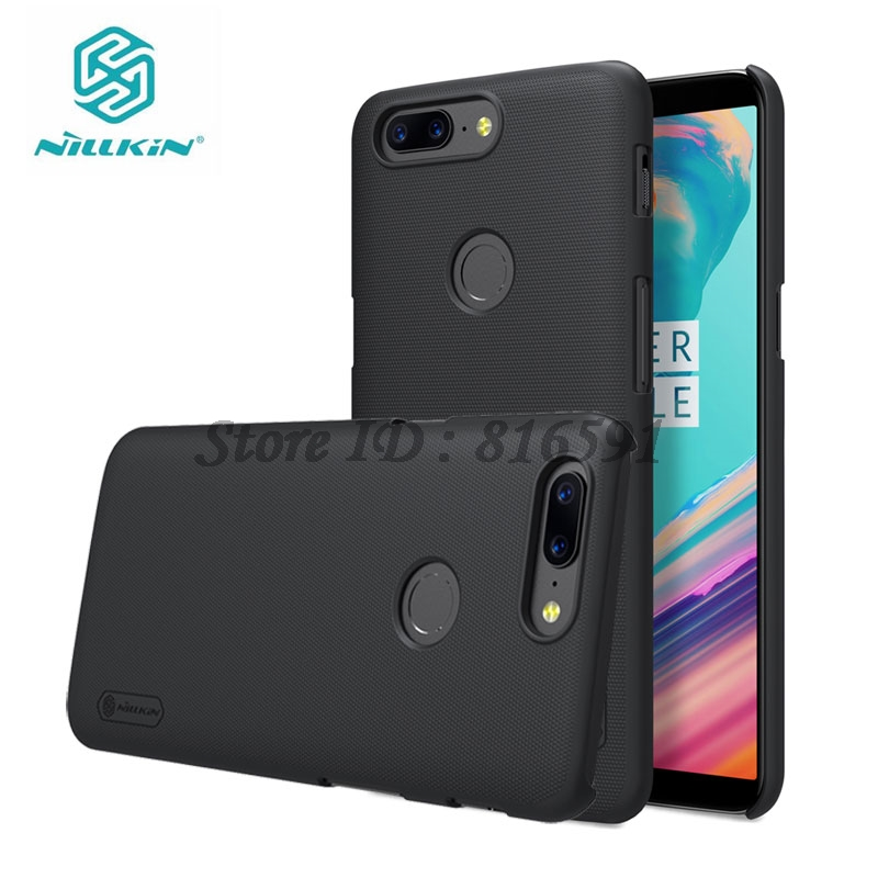 OnePlus 5T Case One Plus 5T Cover Nillkin Frosted Shield Plastic Back Case for OnePlus 5T