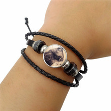 Bangles Hot Sale Pulseiras New 2018 Simple Fashion Steampunk - Woven Beaded Bracelet Fashionable Leather Jewelry Accessories