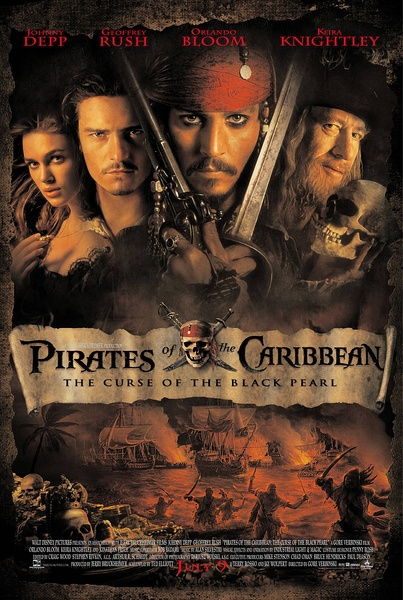 FREE SHIPPING <font><b>Pirates</b></font> <font><b>of</b></font> <font><b>the</b></font> <font><b>Caribbean</b></font> <font><b>The</b></font> <font><b>Curse</b></font> <font><b>of</b></font> <font><b>the</b></font> <font><b>Black</b></font> Pearl Movie Poster 24x36 inches