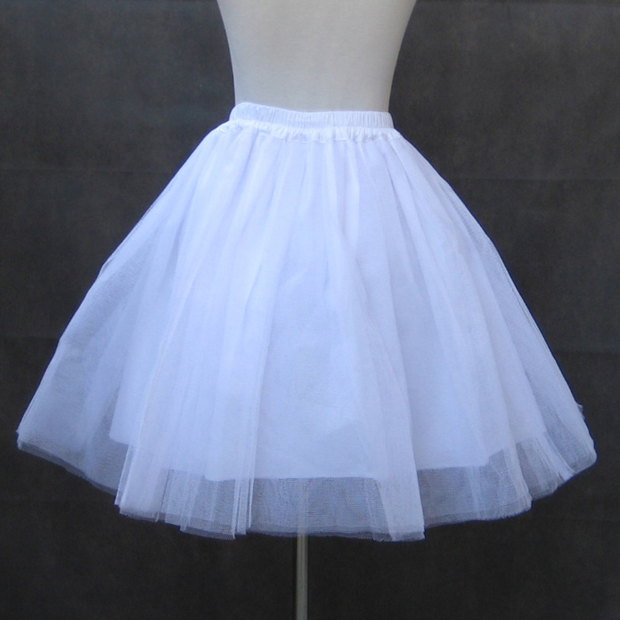 <font><b>Lolita</b></font> Princess for female all-match four layers of Organza Skirt special black and white petticoat. image