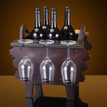 New solid wood red wine rack Continental Creative home living room hall wine rack decorations gifts kitchen accessories