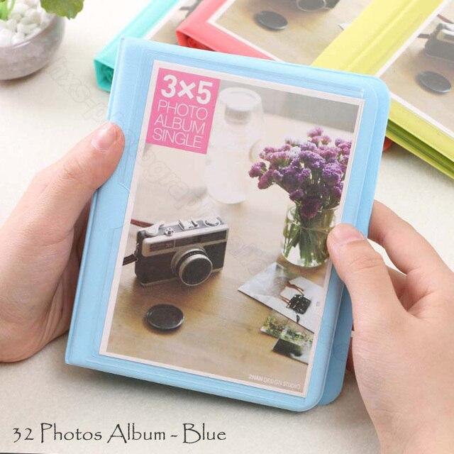 32 Кармана фотоальбом для Fuji Fujifilm Instax фотоаппарат Polaroid 300/200/210/100/500AF пленка фотобумага