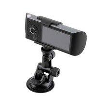 Coche Dual DVR X3000 R300 Dual Videocámara G-sensor de 140 Grados 2.7 pulgadas rociada leva de la Cámara Del Coche DVR con el maderero DEL GPS caliente
