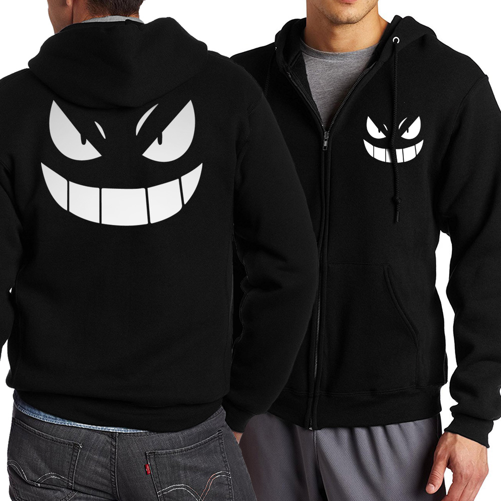 Pokemon Sword Art Online SAO Spring Autumn Fleece Sweatshirt Tokyo Ghoul Man Hoodies Sweatshirts Zipper Hooded Male Tracksuit