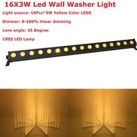 High Brightness 16LEDsX3W DMX Bar Light Yellow Single Color LED Wall Washer Lamp Landscape Wash Wall Lights For XMAS Decorations