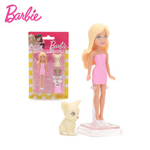 Original Barbie Doll Pet Series Barbie Doll with Dress Clothes Accessories Set Golden Retriever Rabbit Kitten Baby Girls Toys