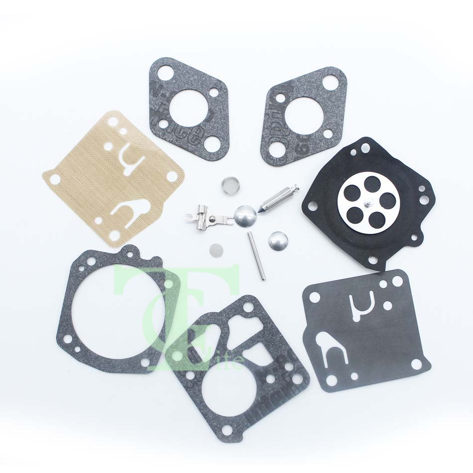 2Pcs/lot Complete Carburetor Carb Diaphragm Kit For JONSERED 49SP 50 51 52 60 62 66E Chainsaw Replace Tillotson RK-23HS