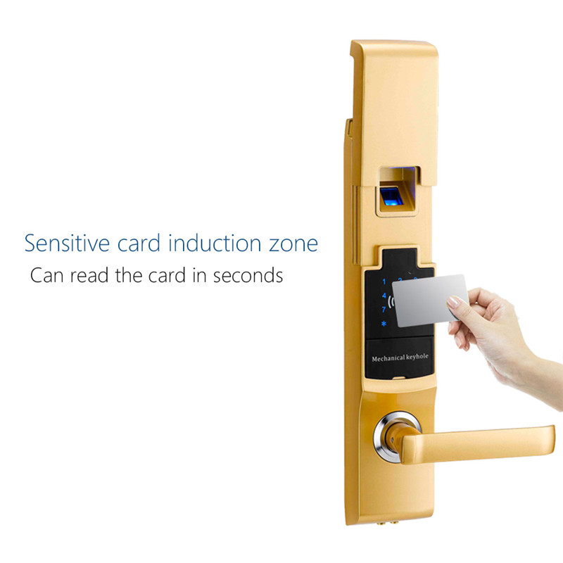 Smart fingerprint door lock digital touch screen password for 1 touch fingerprint door lock