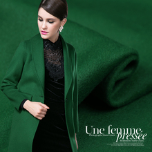 Limited hot sale fashion Emerald green noble double-sided cashmere fine wool fabric for coat tissu au meter bright cloth DIY