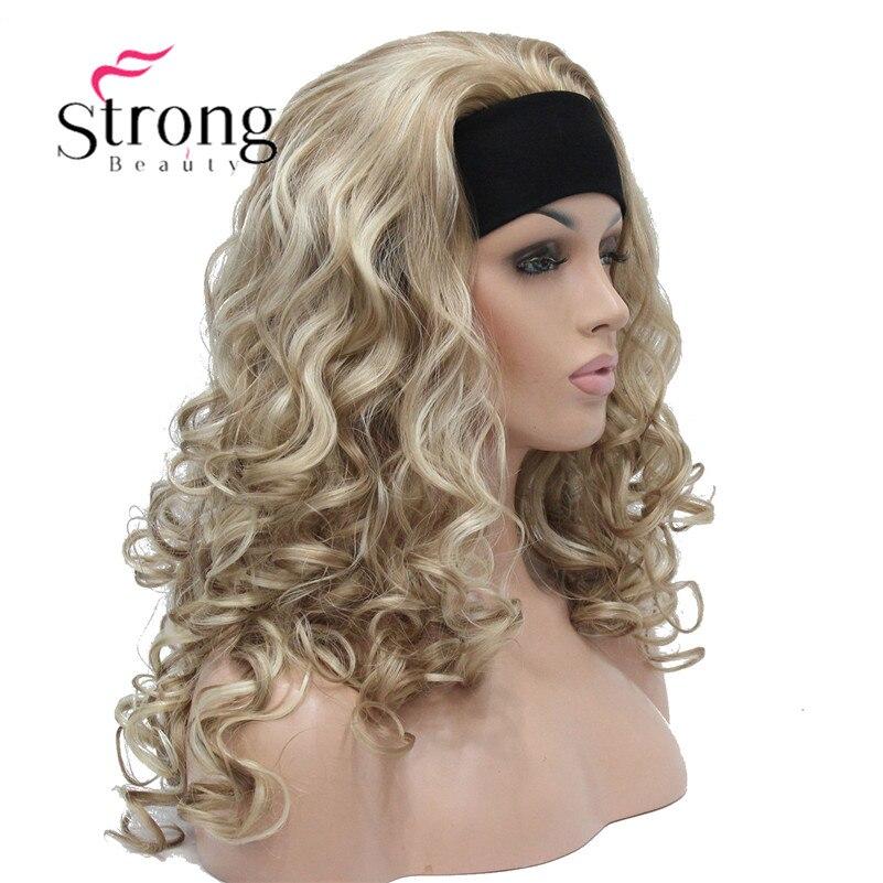 StrongBeauty длинные светлые моменты Вьющиеся Тепло Ok синтетическая повязка парик