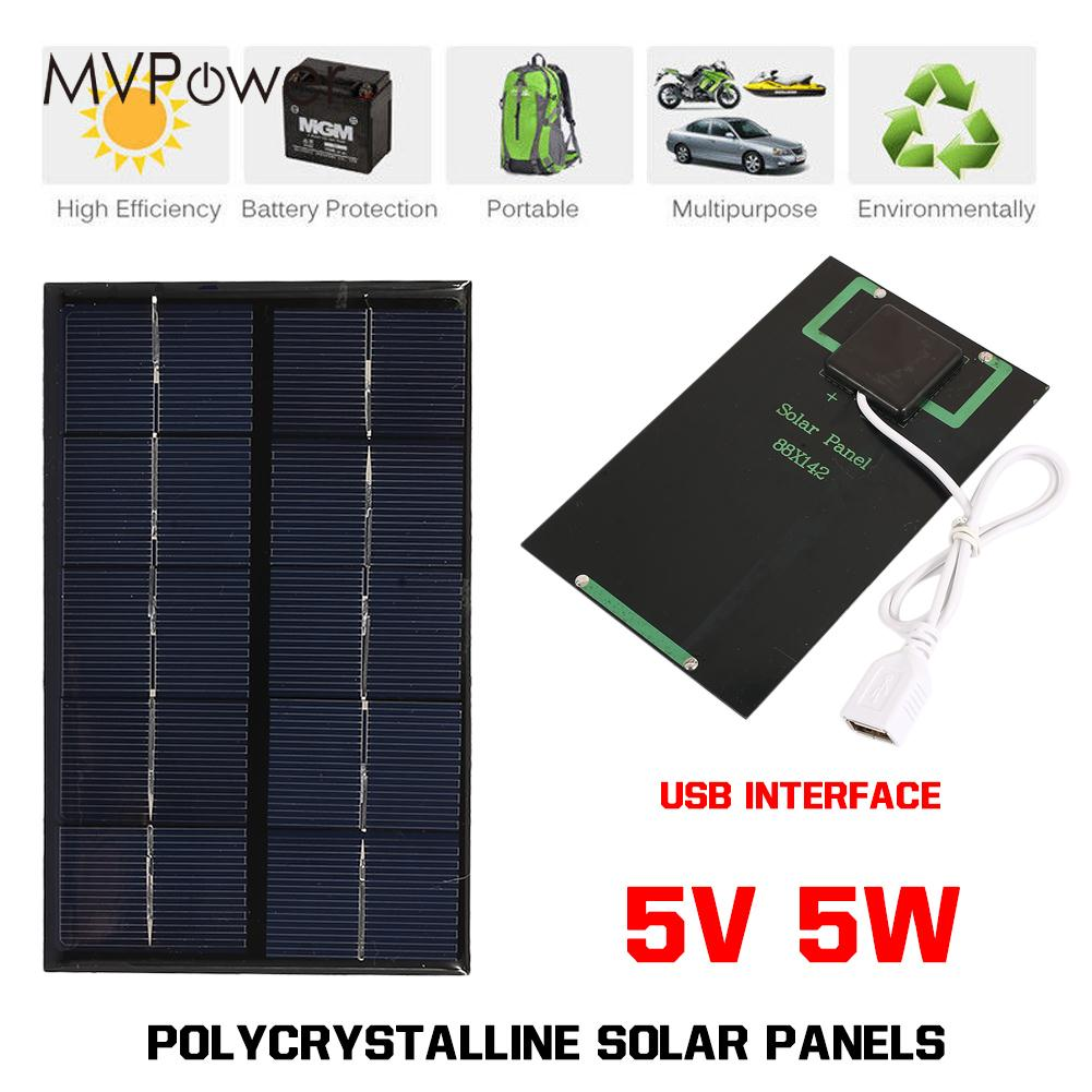 USB Solar Panel Mobile Phone 5W 5V Solar Charger Pane Portable Phone Charger Solar Generator Outdoor цена и фото