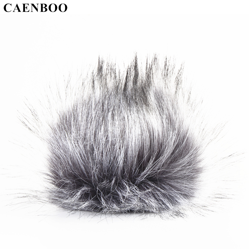 CAENBOO For ZOOM H4N BOYA V02 Microphone Windshield Wind Proof Cover Voice Recording Record Pen Furry Fur Windscreen Muff Mic