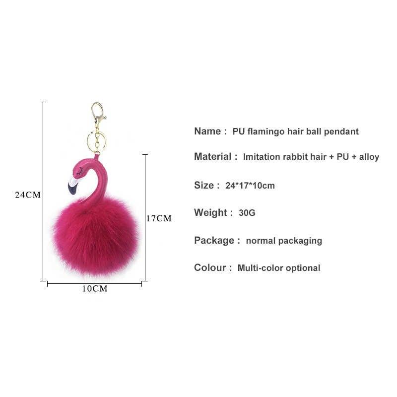 Flamingo Chaveiro Pokemon Bola de Cabelo Cabelo Bola Acessórios Do Telefone Móvel Saco Chaveiro Pingente Decoração Fofo Moda Jóias