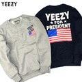 Kanye West Yeezy Для Президента США Флаг Печати 1:1 Высокое Качество Уличной Толстовки Мужские Случайные Yeezy kanye Ripndin Толстовка