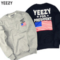 Kanye West Yeezy For President USA Flag Print 1:1 High Quality Streetwear Sweatshirt Men Casual Yeezy kanye Ripndin Sweatshirt