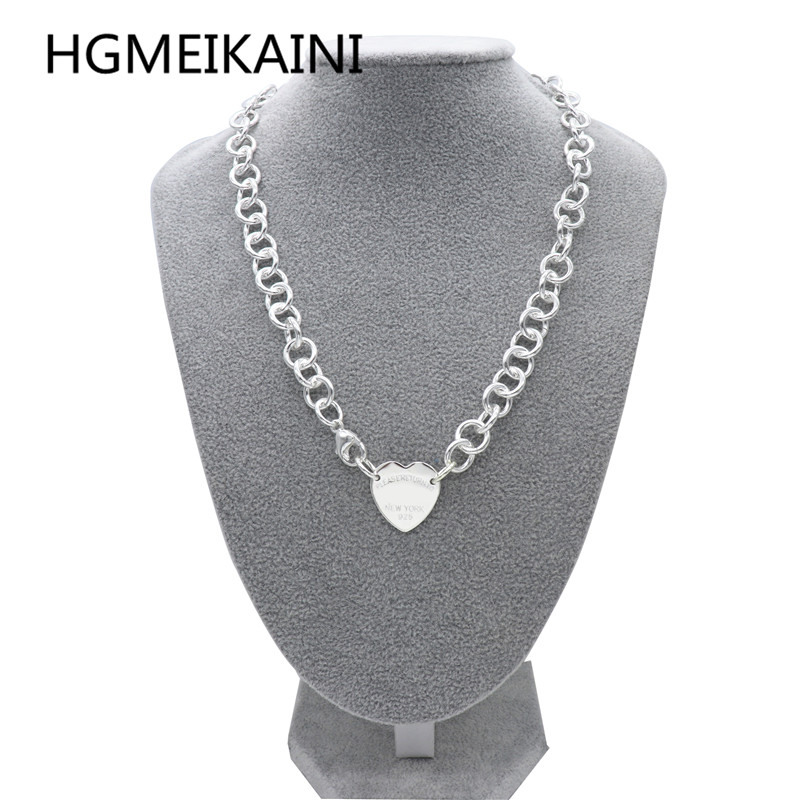 Tiff 925 silver chain in Europe and the original authentic love cross necklace charm ladies fashion jewelry gifts