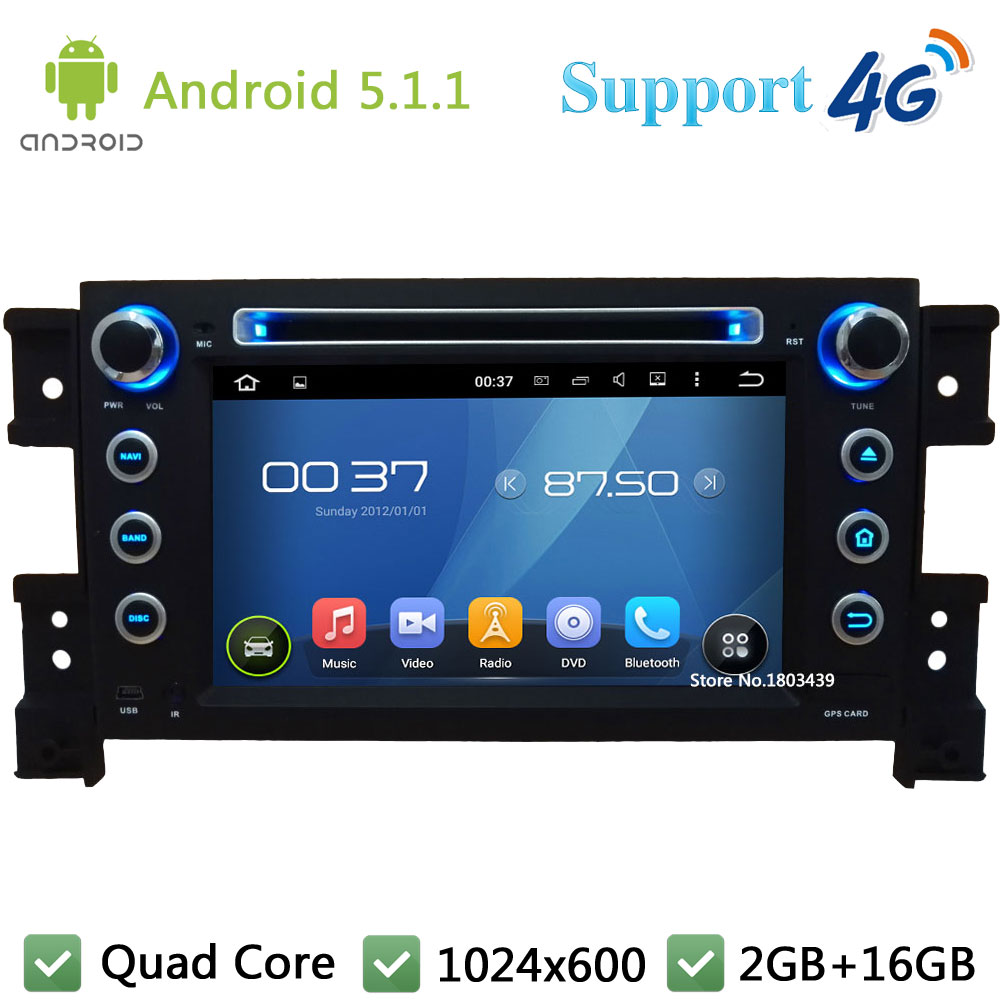 Quad Core 7 1024 600 2Din Android 5 1 1 Car DVD Player font b Radio