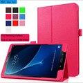 Для Samsung Galaxy Tab A A6 10.1 P580 P585 Tablet Case роскошный 2016 2 Складной фолио Личи Кожа Case Обложка С Подставкой держатель