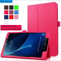 For Samsung Galaxy Tab A A6 10.1 P580 P585 Tablet Case Luxury 2016 2 Folding folio Litchi Leather Case Cover With Stand Holder