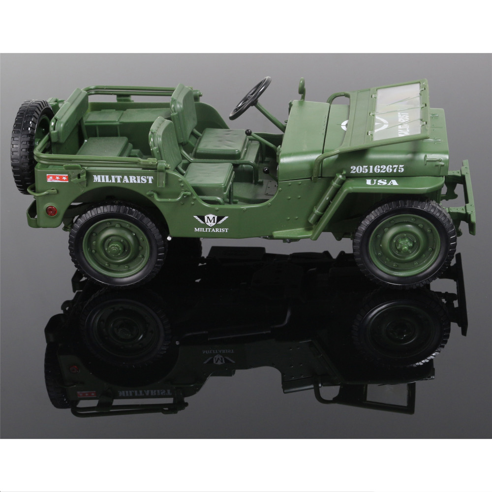 Alloy 1:18 Tactical Military Model Jeeps Old World War II Willis ...