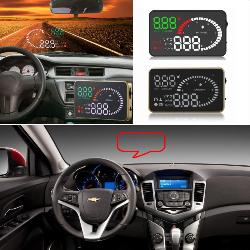 Liislee Car HUD Head Up Display For Chevrolet Cruze Aveo Lacetti Captiva Spark Sail - Safe Screen Projector / OBD II Connector liislee car hud head up display for subaru forester xu impreza legacy outback safe screen projector obd ii connector