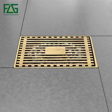 Modern Brass Grille shape Bathroom Floor Waste Grate Shower Drain Drainer