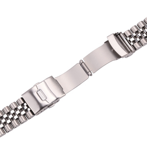 Image 5 - Stainless Steel Watch Bracelet Strap 20mm 22mm 24mm Women Men Silver Solid Metal Watchband Accessories
