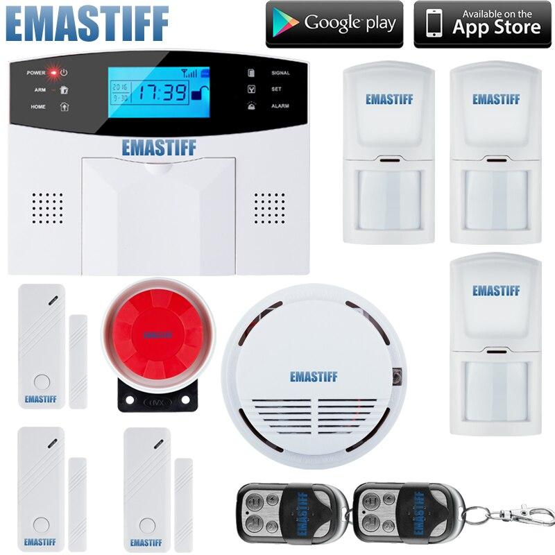 Harga Terbaik Tri Band 850 900 1800 1900 MHz Sistem GSM Alarm Rumah Dengan PIR Motion Detector Suara Rusia Di Kit Dari