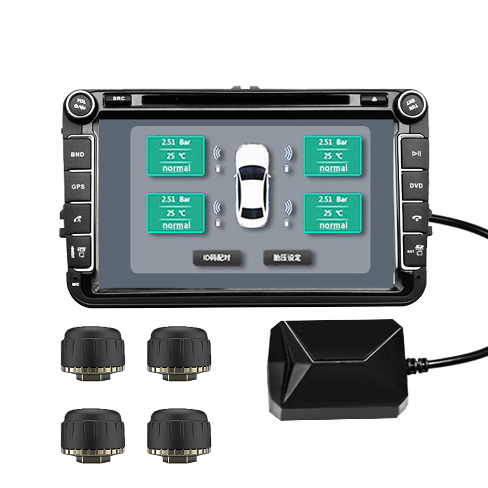 USB Smart Car TPMS Tire Pressure Monitoring System Digital LCD Display Auto Security Alarm Systems Wireless