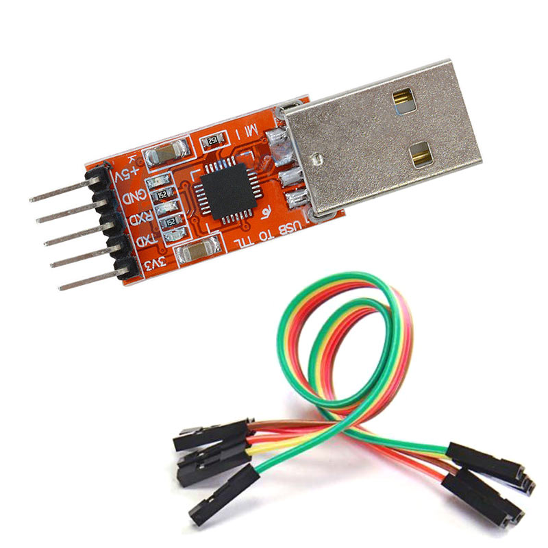 1 Set USB 2.0 To TTL UART 5PIN Module Serial Converter CP2102 STC PRGMR Free Cable EM88