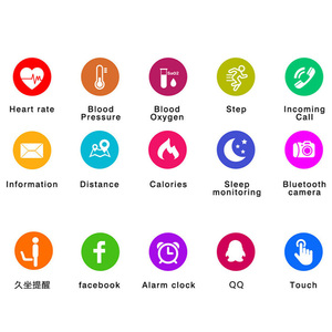 Image 5 - HORUG معصمه سوار لياقة بدنية الذكية النشاط معصم تعقّب عداد الخطى كبير اللمس شاشة OLED Smartband مراقب معدل ضربات القلب