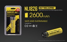 1 pc Nitecore NL1826 2600 mAh 18650 3.7 V Rechargeable Li-ion Battery (NL1826)