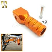 Orange Motorcycle Accessories CNC Aluminum Shift Lever Toe Peg For KTM EXC 125 200 250 300