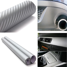 Car-styling 127cm x30cm 3D Carbon Fiber Vinyl Wrap Film Motorcycle Car Vehicle Stickers And Decals Sheet Roll Car Accessories