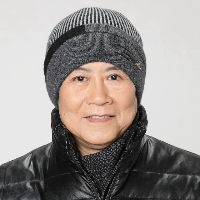The elderly wool yarn hat male winter old-age male winter knitted hat cap ear protector new year father's gift wool brand beanie