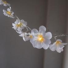 220V 5m 28led frangipani LED String Lights Battery floral Fairy light, Event Party garland decoration,Bedroom decoration