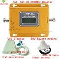 Полный Набор Высокое качество ЖК-Дисплей 3 Г 2100 МГЦ мобильный усилитель сигнала 3 Г, повторитель сигнала Мобильного Телефона, 3 Г усилитель сигнала охват 500м2
